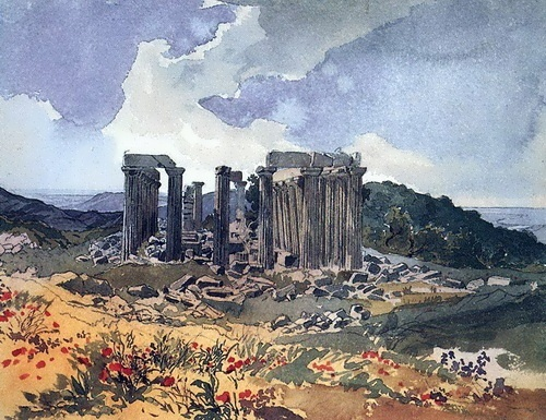 bryullov The Temple of Apollo the Epicurean