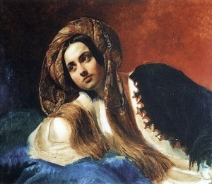 bryullov turkish woman