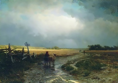 After the rain. Fyodor Vasiliev