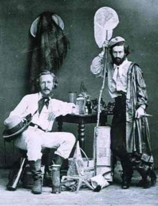 Ernst Haeckel (left) with his assistant Mikluho-Maclay in the Canary Islands. December 1866