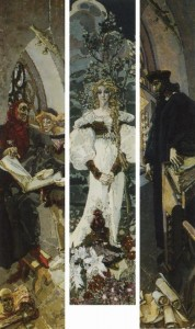vrubel Faust. Triptych. 1896