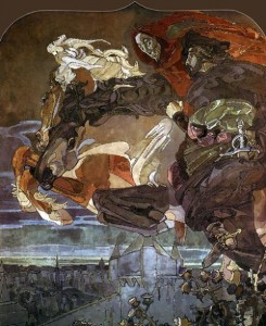 vrubel Flight of Faust and Mephistopheles 1902