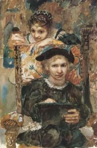 vrubel Hamlet and Ophelia