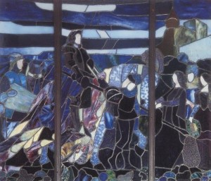 vrubel Knight. 1896 Stained glass