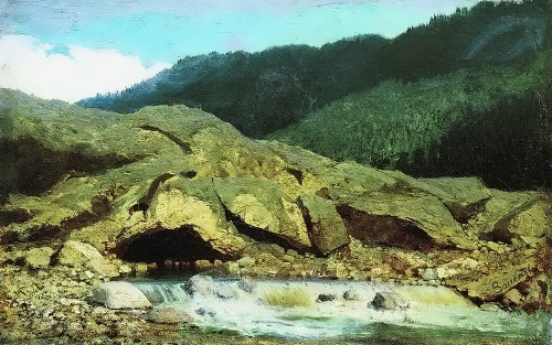 Landscape with rock and stream Fyodor Vasiliev