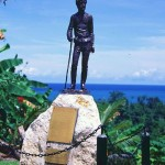 Monument to Maclay in New Guinea