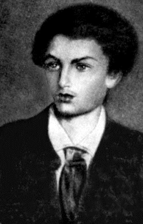 N. Vaulin. Portrait of Kolya Mikluho at 15 years