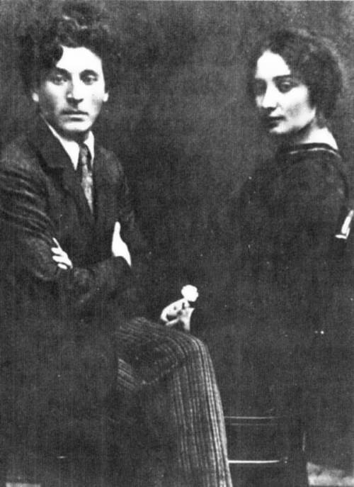 Chagall and Bella before moving to Paris. 1922