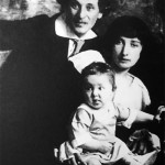 Chagall, his wife Bella and her daughter Ida