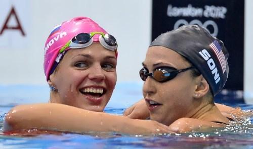 Efimova and Rebecca Soni