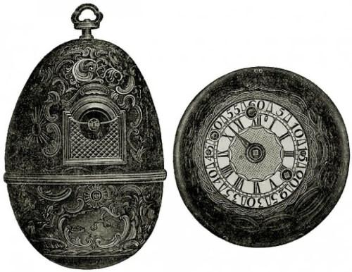 Egg-shaped clock