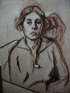 Lili, drawing by Mayakovsky, 1916
