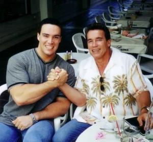 Nevsky and Arnold Schwarzenegger