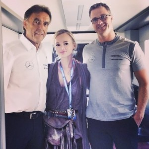 Olesya, Mercedes's DTM management and Ralf Schumacher