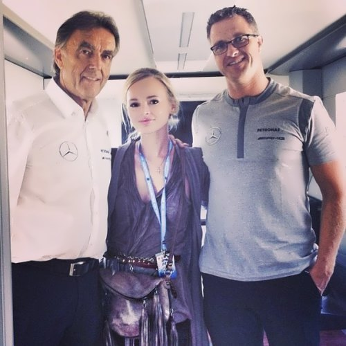 Olesya, Mercedes's DTM management and Ralf Schumacher