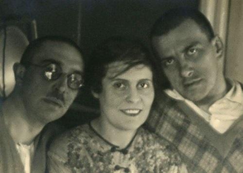 Osip Brik, Lilya Brik and Vladimir