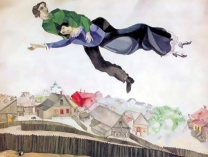 chagall Over the city