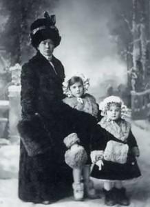 Tatiana, her sister Lyudmila and governess