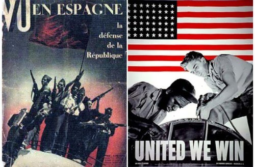 Vu magazine cover and poster World War II