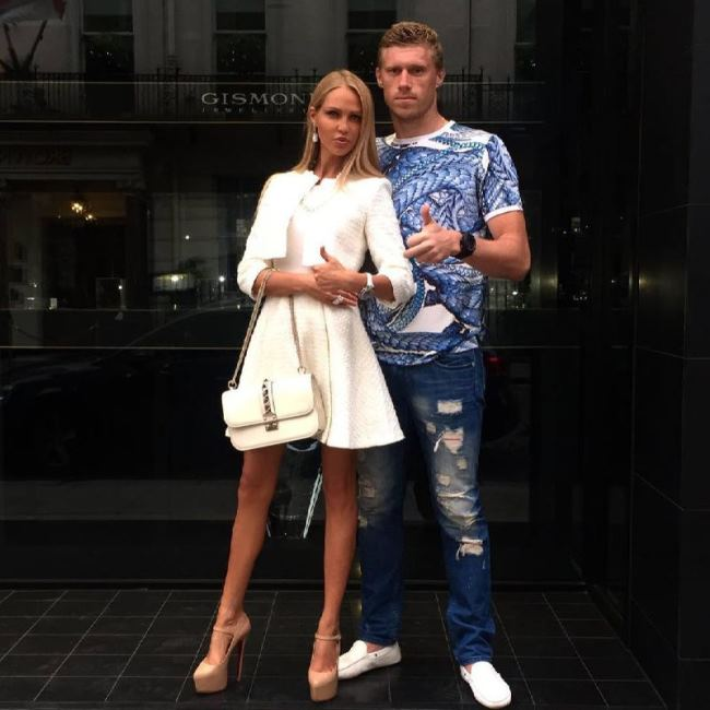 Beautiful Maria and Pavel Pogrebnyak