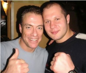 Emelianenko and Jean-Claude Van Damme