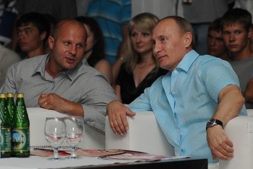 Emelianenko and Vladimir Putin