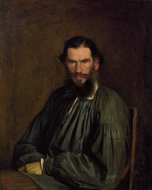 Kramskoy. Portrait of Tolstoy