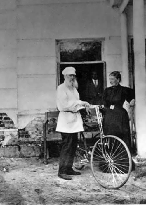 Tolstoy on a bike
