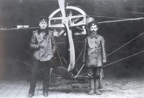 Nesterov and his mechanic Nelidov