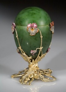 Pansy egg Faberge