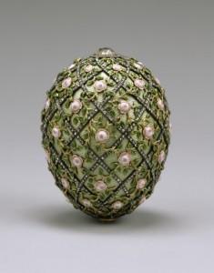 Rose Trellis egg Faberge
