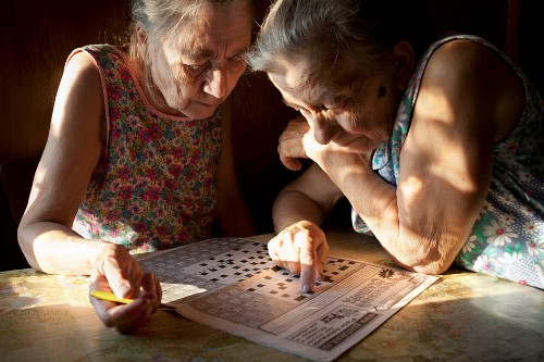 Sisters like crossword puzzles. www.nadiasablin.com