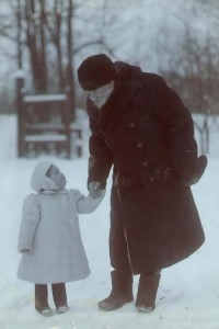 Tolstoy with his granddaughter Tatiana Sukhotina