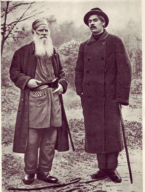 Tolstoy and Maxim Gorky