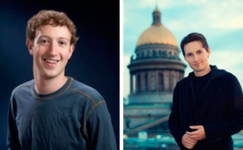 Zuckerberg and Durov