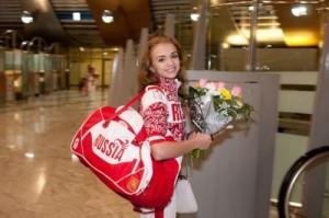 Dudkina beautiful Russian gymnast