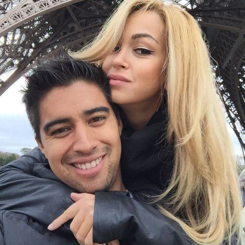 Handsome Christian Noboa and his beautiful Russian wife