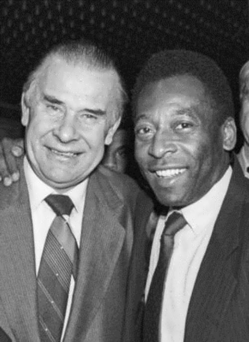 Two great footballers - Yashin and Pele