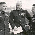 A. Pokryshkin, G. Zhukov, I. Kozhedub