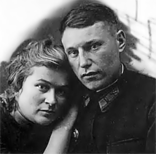 Pokryshkin and his wife Maria