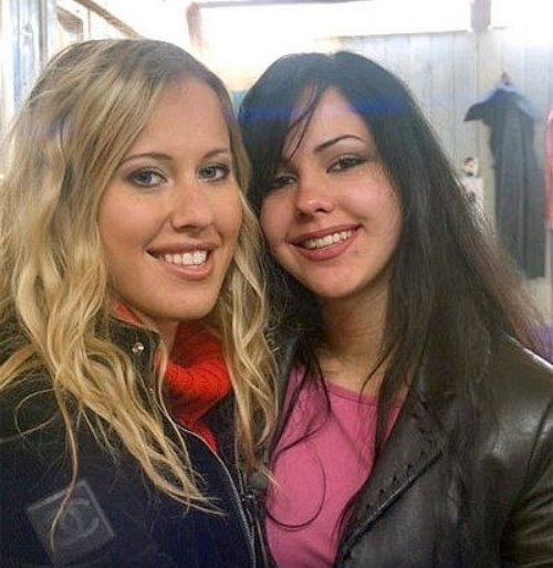Ksenia Sobchak and Elena Berkova