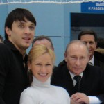 Vladimir Putin with Maxim and Tatiana