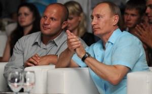 Fyodor Emelianenko and Vladimir Putin