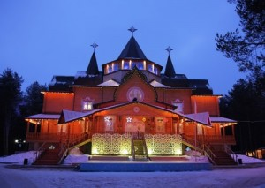 Wonderful Terem of Ded Moroz (house) in Veliky Ustyug in winter