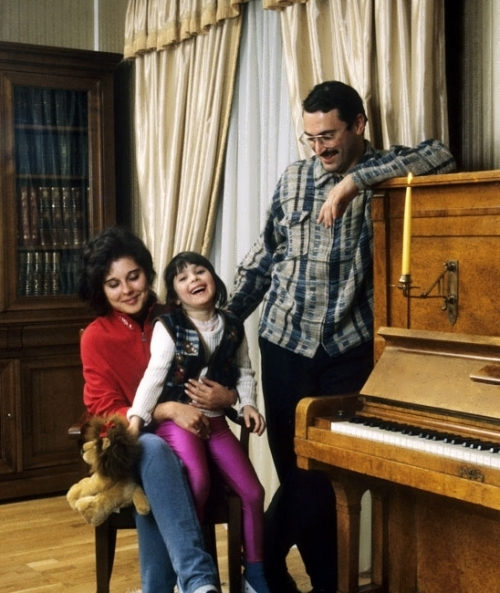 Khodorkovsky and his family, 1997