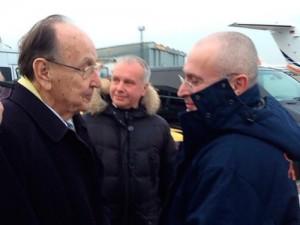 Khodorkovsky at the airport, Germany