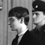 Mathias Rust during the sentencing, 1987