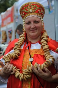 Modern Woman in Russian costume