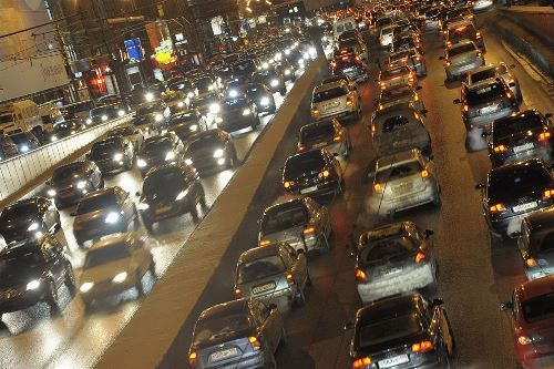 Moscow traffic jams