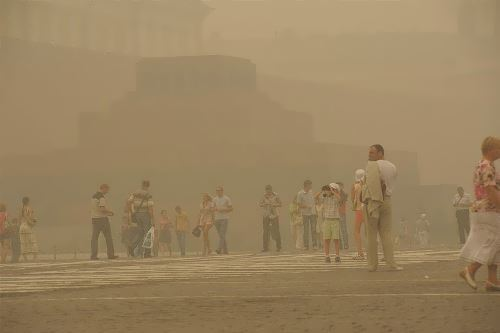 Smog in Moscow, 2010